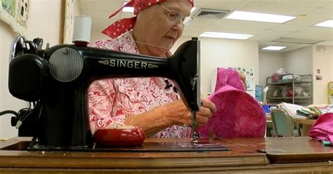 Seamstress comforts cancer patients at a Clearwater