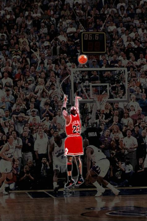 The shot that resulted in the Chicago Bulls' 6th title in