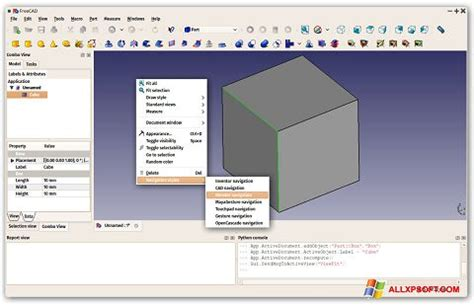 Download FreeCAD for Windows XP (32/64 bit) in English