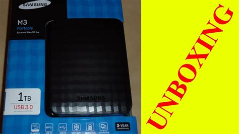 SAMSUNG M3 Portable 1TB UNBOXING - YouTube