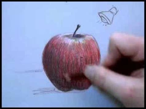 Colored Pencil Drawing of an Apple Part 2 - YouTube