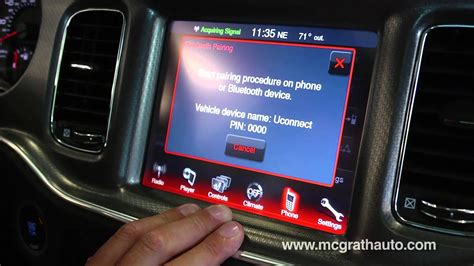 How to pair Bluetooth Smart Phone with Dodge UConnect