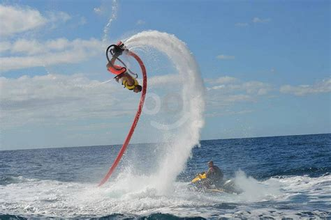 Adventureous Flyboard riding in Gran Canaria southwest