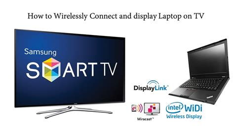 How to wirelessly connect display from laptop to smart tv
