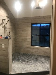 how do you create the Shiplap look on walls with tile?