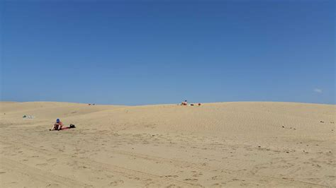 Dunes of Maspalomas on Gran Canaria, protected and