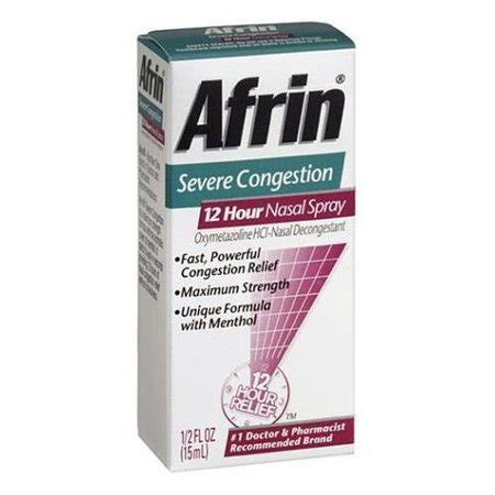AFRIN NASAL SPRAY SEVERE CONGESTION 12 HOUR RELIEF FAST