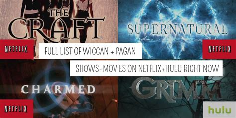 Wiccan and Pagan Shows + Movies on Hulu and Netflix Right