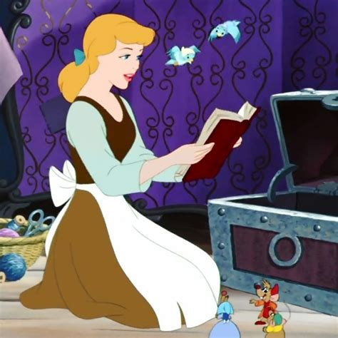 Disney Princesses seen writing and/ or being with books