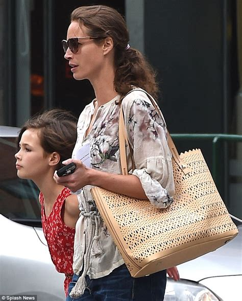 Christy Turlington is spotted with 10-year-daughter Grace