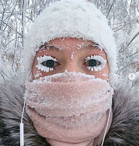The Russian village where even eyelashes freeze! - Rediff