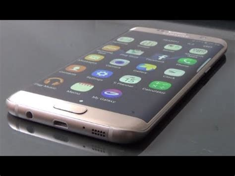 Samsung Galaxy S7 Edge Gold Full Review and Unboxing - YouTube