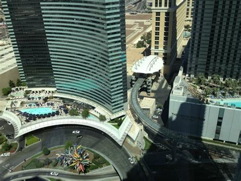 That is the Vdara rooftop pool area - Picture of ARIA Sky