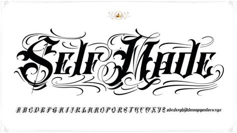 Best Tattoo Fonts Illustrations, Royalty-Free Vector