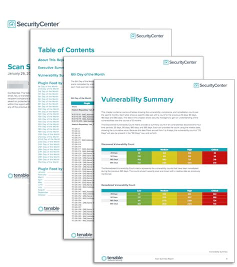 Scan Summary Report - SC Report Template   Tenable®