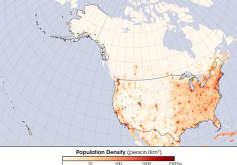 United States Population Density : Image of the Day