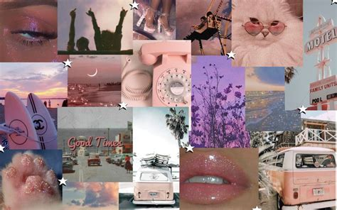 Aesthetic Screensaver Collage Pink in 2020 | Screen savers