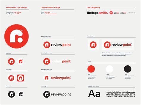 Review Point Logo Usage Guidelines Template for Download