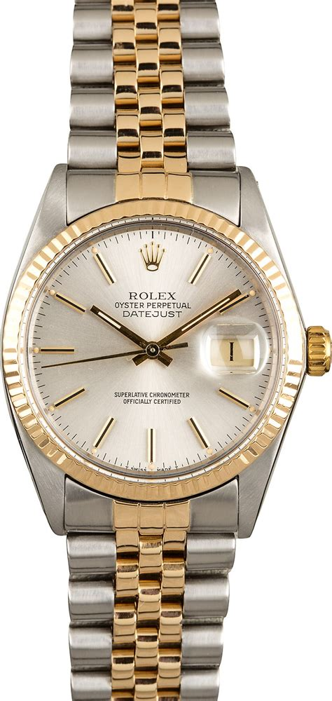 Rolex Datejust 16013 Silver Dial Two Tone Jubilee Band