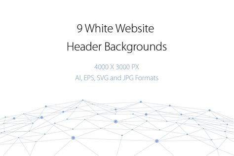 9 White Website Header Backgrounds ~ Graphics ~ Creative