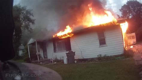 WELL Involved House Fire Aggressive Attack - YouTube